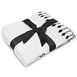Tejido de algodón de la borla de la manta impresa estilo conciso ropa de cama de uso múltiple Alfombras de dormir Suave cama Plaid Vintage Inicio Tapiz EN VENTA desde fabricantes