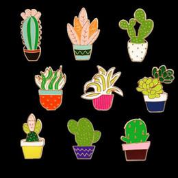 2019 jóias da floresta Pinos de esmalte de moda Floresta Japonesa Planta Fresca Broches Broche Floral 9 Estilo Cactus Criativo Design Simples Jóias Collar Pin Broche jóias da floresta barato