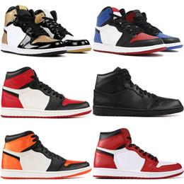 Canada 1 1S Basketall Chaussures Ombre Satin Panneau Brisé TOP 3 Hommage à La Maison Chicago Triple Noir Blanc Hommes Baskets De Sport Nous 8-13 Offre