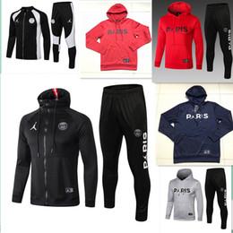 cd61f4c313f 2018 2019 Jordam X PSG jacket hoodie Champions League Survetement 18 19 PSG  MBAPPE football jackets POGBA soccer HOODI