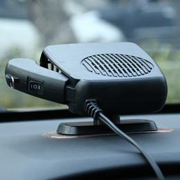 2019 dégivreur de voiture 2 en 1 dégivreur de désembuage de désembuage de pare-brise de ventilateur de chauffage de chauffage de voiture 12V / 24V pour le dispositif de contrôle de température portatif de véhicule dégivreur de voiture pas cher
