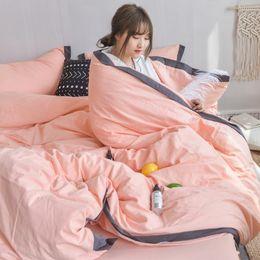 Принцесса одеяло крышка король онлайн-Multi-Color Warm Soft Cozy Comforter Bedding Sets Washed Cotton Princess Style Duvet Cover Set 4pcs Twin Full King Queen Size