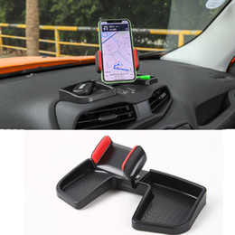 Jeep interno online-ABS Car Interior Titolare del precipitare Phone Mount vano portaoggetti kit nero per Jeep Renegade 2016+ Accessori Interni
