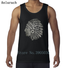 Ropa de hombre indio online-Indian Apache tank top humorous large men's style sleeveless men's shirt design beautiful clothes