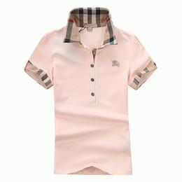 Женская футболка Классический с коротким рукавом Летняя футболка Модный бренд Рубашка Поло для Женщин Высокого Качества 5 Цвет S-XXL от Поставщики томми поло