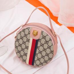 bolso redondo de cuero Rebajas Mini PU bolso de cuero 2019 nuevo de la manera de un hombro cruzada cuerpo bolsa de pequeñas y redondas paquete Bolsas para mujeres Bolsas de mensajero