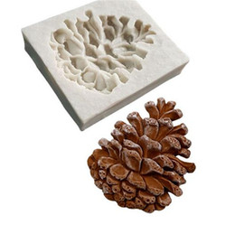 clay mold shapes Promo Codes - Pine nuts shaped 3D fondant cake silicone mold for polymer clay molds chocolate pastry candy making decoration tools
