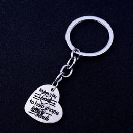 2019 semi del mondo Portachiavi Love Heart Love Inspire Teach Keychain Prende un grande cuore Hand Open A World Plant Seeds Portachiavi Grazie sconti semi del mondo