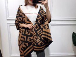 Herbst Winter Decke Schal Frauen Pashmina Kaschmirschal doppelseitige Buchstaben Plaid Schals gestrickte warme lange Schal Wraps Top-Qualität von Fabrikanten