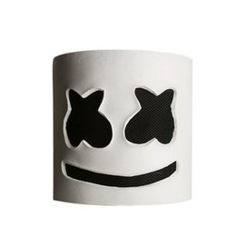 music mask Coupons - Party EL Halloween Marshmallow Dj Headgear Marshmello Headgear Mask Latex Material Full Head Helmet Mask Bar Music Party Props Mask
