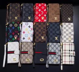 kristallklares volles tpu fall Rabatt Klassische luxus pu leder designer phone cases für iphone x xs max xr 6 s 6 7 8 plus für samsung s9 s8 s7 rand karte brieftasche handy abdeckung