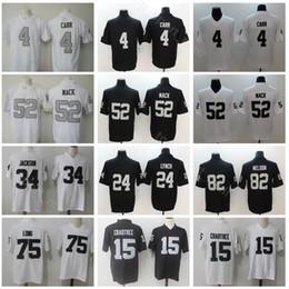 425f9ac5112 Oakland Football 52 Khalil Mack Jersey Raiders 24 Marshawn Lynch 4 Derek  Carr 82 Jordy Nelson 15 Michael Crabtree Bo Jackson Howie Long