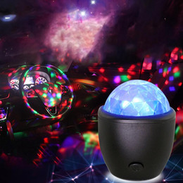 palle di cristallo usb Sconti LED USB Mini Voice Activated Crystal Magic Ball Led Stage Disco Ball Proiettore Party Lights Flash Luci DJ per Home KTV Bar Car