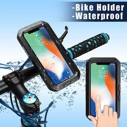 IPX8 Su Geçirmez Koruma Kılıfı iphone X MTB Bisiklet Bisiklet Motosiklet Kolu Dağı Tutucu Cep Telefonu Çanta Kılıf Yüzme için # 80247 cheap waterproof bicycle phone holder nereden su geçirmez bisiklet telefonu tutacağı tedarikçiler