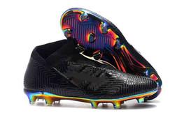 2019 nuevas botas messi Nuevo Nemeziz 18 18+ FG Messi Soccer Hombres 18 + x Calzado de fútbol Agilidad Vendaje Botas de fútbol de modo espectral Tallas US6.5-11 nuevas botas messi baratos