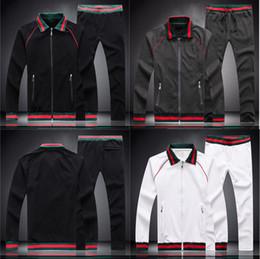 Calças de treino de veludo on-line-hot fashion brand designer luxury classic Compound velvet stripe tracksuit winter designer white black jacket tracksuit M-3XL