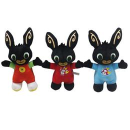 conigli animali Sconti 18 centimetri Bing Bunny giocattoli di peluche bambola Bing Bunny animali di pezza Coniglio Soft Bing's Friends giocattolo per bambini regalo di natale A165