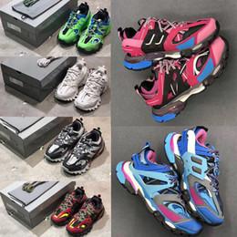2019 olivgrüne flache schuhe Luxus Designer Triple S 3.0 Sneakers Herren Freizeitschuhe Damen Plattform Outdoor Sneakers Tess S. Gomma Trek Mesh Nylon Herren Track Trainer