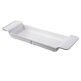 Pratica Prodotti per la casa Vasca da Bagno Scaffale Bagno ripiano a Vasca Doccia Trucco Asciugamano Organizzatore plastica Kitchen Sink Supporto dello scolo