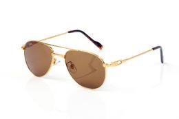 2019 goldene brücke sonnenbrille Designer Brillen Rahmen weiß gestreift Sonnenbrille Full-Frame-Doppel Nase Brücke golden Tee Flocken umrandeten Brille 2019 Designer Luxus günstig goldene brücke sonnenbrille