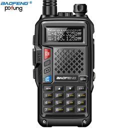 Langstrecken-walkie talkie uhf online-BF-UVB3 Baofeng Walkie Talkie PLUS 5W High Power UHF VHF Dual Band 10KM Long Range Thickenbattery Walkie Talkie Mehrere Lademodus