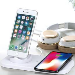 carregador inteligente nitecore i4 Desconto eonpin Carregador sem fio três-em-um suporte base de carregamento sem fio é adequado para carregamento sem fio do iPhone