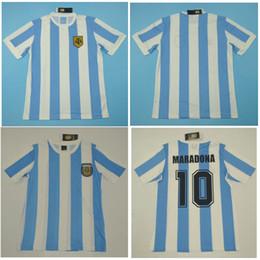 2019 lega maradona argentina Top 1978 Argentina Retro Maglie VINTAGE CLASSIC MARADONA Maglia da calcio 1986 Maglia da calcio maillot de foot sconti lega maradona argentina