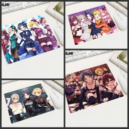 game anime girl sexy Coupons - XGZ Rubber Anime Mouse Pad Small Waterproof Non-slip Game Office Cute Cartoon Sexy Cool Girl Mouse Mat Table Mat Locking edge