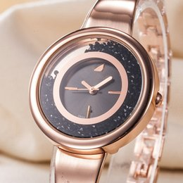 2019 relógio levou escuro TECHNOMARINE Swan Relógio Casual Quartz Lady Assista Diamante Dial Aço Inoxidável Strap Fivela Escura Frete Grátis relógio levou escuro barato
