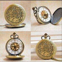 relógio de medalhão de quartzo Desconto Bronze Doctor Who Estilo Moda quartzo relógio de bolso melhor presente Homens Mulheres Unisex Relógios