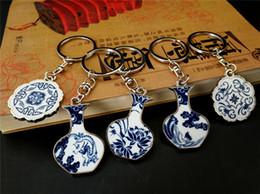20170622 Chinois Éléments Bleu Et Blanc En Porcelaine Porte-clés Taille Pendentif Suspendu Jouets Cadeau Livraison Gratuite ? partir de fabricateur