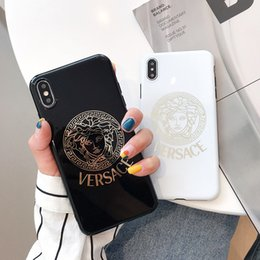 Étui plaqué or pour iphone en Ligne-cas de téléphone de concepteur de luxe pour iphone 6/7/8 plus xs max / XR placage or de haute qualité couverture de téléphone portable stunk livraison gratuite