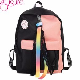 92f112510b1ae Gusure Mode Band Frauen Rucksack Für Studenten Schultasche Unisex Große  Kapazität Reisetasche Pack Jugendliche Mädchen Jungen Rucksack