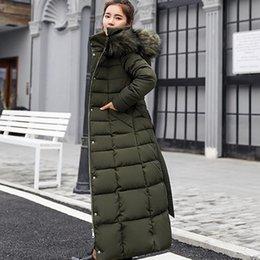 lunghe giacche calde con cappuccio donna Sconti Giacca invernale da donna casual imbottita in cotone ispessimento con cappuccio in piumino manica lunga calda con cappello