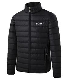 2019 cappotto di pelliccia blu cappotto uomini 2020 Hot Sale Mens Primavera Autunno Piumini Thin Slim Fit cappotti cotone imbottito solido Colore della giacca a maniche lunghe Cappotti