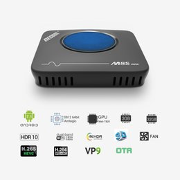 Bluetooth для тв-пульта онлайн-Mecool M8S Max TV Box Amlogic S912 3 ГБ ОЗУ 32 ГБ ПЗУ 5 Г WIFI Bluetooth 4.0 Android 4K VP9 H.265 ТВ Box с пультом дистанционного управления