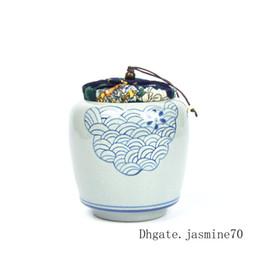 2019 bolas de papel animal Boutique Pintados à Mão China Fujian Dehua Archaize Pet Memorial das Cinzas do Frasco de Porcelana Azul e Branca