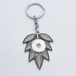 20PCS//Lot Vocheng Snap Jewelry Leaves Button Charms Vintage 18mm Vn-1777*20