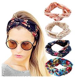 accesorio de pelo torcido Rebajas Diseñador Diadema de Lujo Diadema Mujeres Niñas Vintage Elástico Impreso Head Wrap Elástico Hairbands Twisted Moda Accesorios Para el Cabello