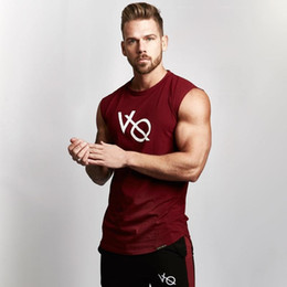 6cdc85e6ade5 2019 Muscle gym Brothers VO Sleeveless Sports vest for Men s Fitness  Running Sleeveless T-shirt Air-permeable Training Suit