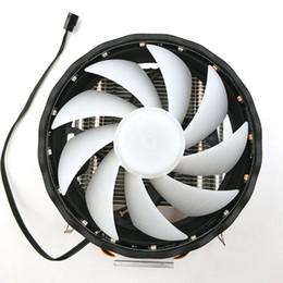 CPU Soğutucu Dayanıklı RGB Fan Bakır Masaüstü Bilgisayar 2 Isı Boruları 3 Pin Radyatör Soğutma LGA 1155/1151 AMD Için Led 12 V Sessiz nereden