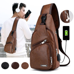 waist handbags Promo Codes - Men's Leather Waist Pack Casual Business Messenger Shoulder Bag Crossbody Handbag