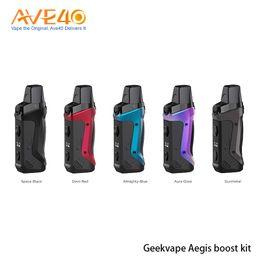 mini tormenta de vapor Rebajas Boost original Geekvape Aegis Kit de alimentación por batería 1500mAh Botas de malla Bobinas 3,7 ml Vacío Aegis Boost Pod