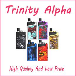 Tipo de cartucho online-Kit Trinity Alpha de alta calidad Sistema de cartucho de cápsulas de 2.8 ml Batería incorporada de 1000 mAh Dispositivo de vape con tapa de llenado tipo push-up