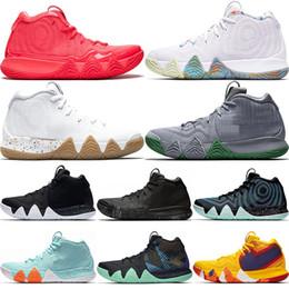 premium selection e40a7 bb526 New Kyrie Männer Basketballschuhe Irving 4 Schwarz Weiß Gold Sport Trainer  Sneakers Kyries Designer Mens Brand günstig kyries neu