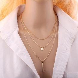 Ausländische silberne schmucksachen online-Quaste Multilayer Anhänger Halsketten europäischen und amerikanischen Außenhandel mehrstöckige Quaste Kette Sequel Halskette Schmuck Halskette Halskette