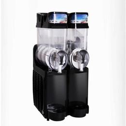 Máquina de fusión de nieve 580W / Máquina de granizado de doble tanque / Máquina de bebidas frías / Máquina de batidos Granita / Máquina de hielo en la arena desde fabricantes