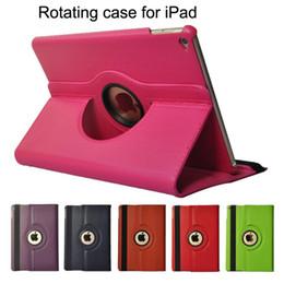rosa zünden feuer Rabatt Rotierender Fall für Apple iPad Air 1 2 Flip Litchi Lederbezug mit Smart Standhalterung für iPad 9.7 iPad Pro