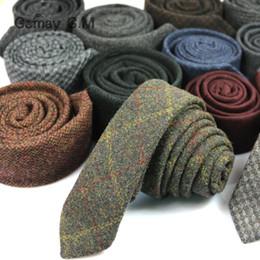 2019 laços de qualidade e magro Homens gravata pura lã Xadrez tie 5 cm cavalheiro magro de alta qualidade fabricantes de Inglaterra atacado local desconto laços de qualidade e magro