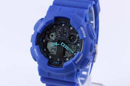 2019 мужские наручные часы 2019 новый двойной дисплей спортивные часы ga100 G черный дисплей из светодиодов мода армия шокирующие часы мужчины случайные часы чат # ft9508 дешево мужские наручные часы